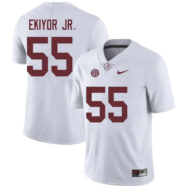 Men #55 Emil Ekiyor Jr. Alabama Crimson Tide College Football Jerseys Sale-White