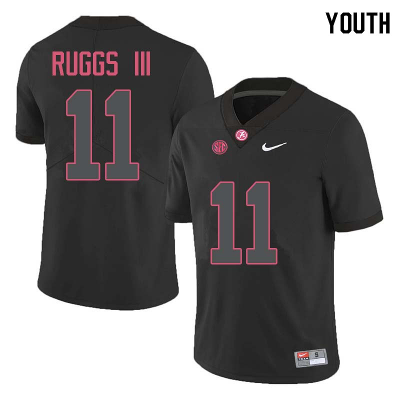 Youth #11 Henry Ruggs III Alabama Crimson Tide College Football Jerseys Sale-Black